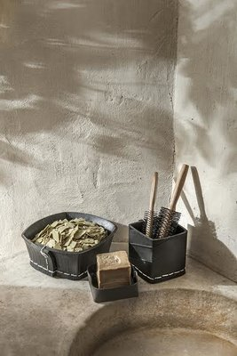 Tadé recycled tyres - Corbeille Carrée - Vierkante mand
