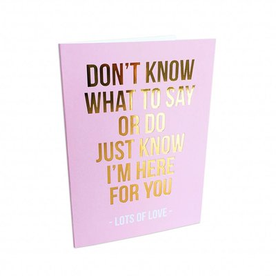 Studio Stationery - Greeting card Lots of love
