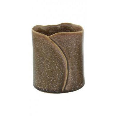 Pot Folded bruin/creme Large
