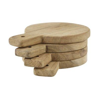 Nicolas Vahé - Servingboards / coasters Wood, set of 4