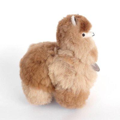 Inkari - Alpaca zachte knuffel Gemêleerd bruin Small
