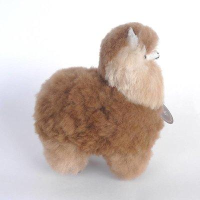 Inkari - Alpaca zachte knuffel Lichtbruin / bruin Small
