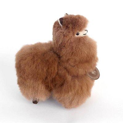 Inkari - Alpaca zachte knuffel Bruin Small