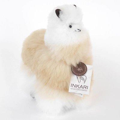 Inkari - Alpaca zachte knuffel Beige / ivoor Medium