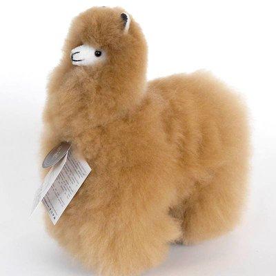 Inkari - Alpaca zachte knuffel Lichtbruin Medium
