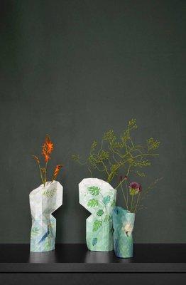 Pepe Heykoop - Paper Vase Cover small - Peacock