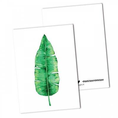 BDdesigns - Kaart Bananenblad