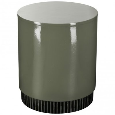 PTMD - Flush grey stool bamboo round