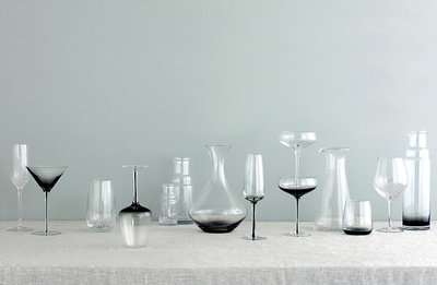 Broste Copenhagen - Bubble - Glass Tall Grey