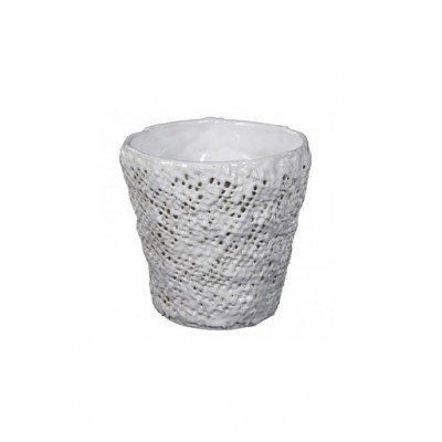 PTMD - Splendid White ceramic pot round s