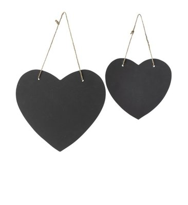 Broste Copenhagen - Chalk hearts s/2