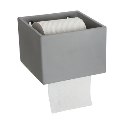 House Doctor - Cement - Toilet paper holder