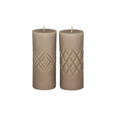 Broste Copenhagen - Pillar candle Crystal Linen s/2