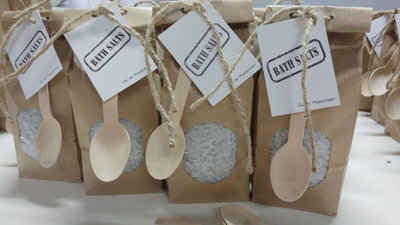 (Op) de Maalzolder - Paperbag bath salts grey