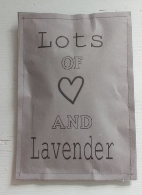 (Op) de Maalzolder - Scented sachet Lots of love