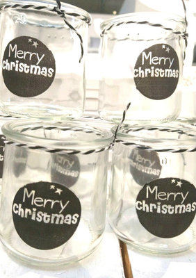 (Op) de Maalzolder - Tealight Merry Christmas black