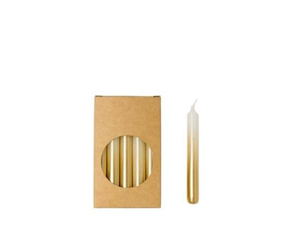 Rustik Lys - Little candles White / gold S