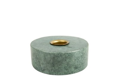 MrsBloom - Candle holder Collin Round Green marble