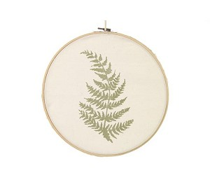 Countryfield - Wanddeco embroidery ring fern