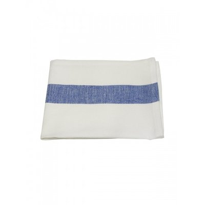 Mijn Stijl - Servet wit / donker blauwe streep