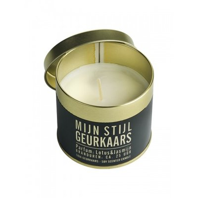 Mijn Stijl - Scented candle can gold Cedar & vetiver