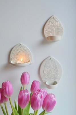 Kesemy design - Wall candleholder Lighten up Peach S