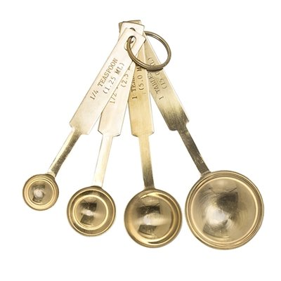 Bloomingville - Measuring Spoon Gold S/4