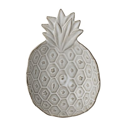 Bloomingville - Terracotta tray Pineapple White