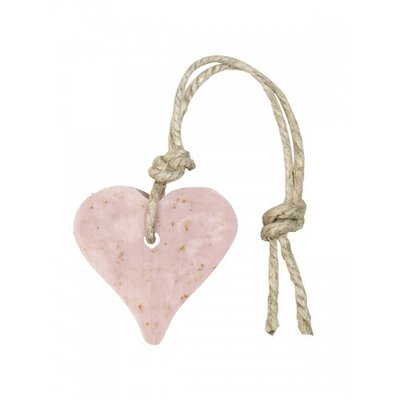 Mijn Stijl - Soap Heart Old pink with bran & perfume rose