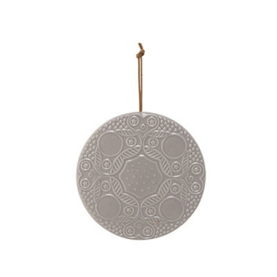 Bloomingville - Deco platter light grey