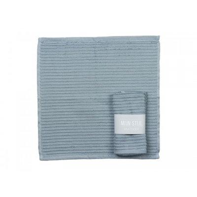 Mijn Stijl - Dishcloth blue/grey