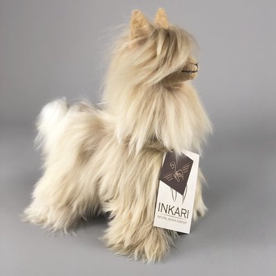 Inkari - Alpaca stuffed animal Suri gold Small